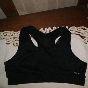 Nike Dri-Fit Black Sport Unpadded Bra Large